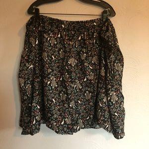 Flowy Floral Printed Skirt - 4X NWOT